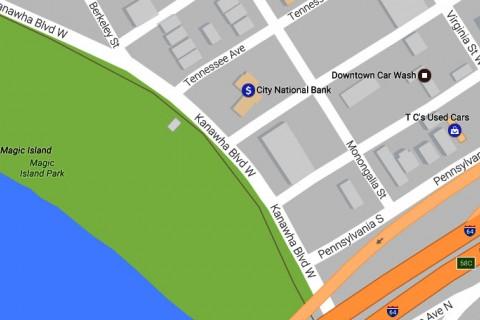 Kanawha Blvd W Lane Closure City of Charleston